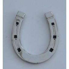 Lucky Horseshoe Quality Chrome and Enamel Pin Badge
