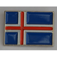 Iceland Icelandic Flag Quality Enamel Pin Badge