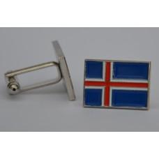 Iceland Icelandic Flag Quality Enamel Cufflinks