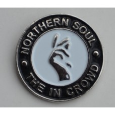 Black Northern Soul The In Crowd Pin Badge