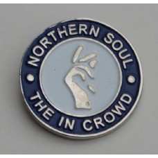Blue Northern Soul The In Crowd Pin Badge