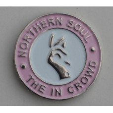 Pink Northern Soul The In Crowd Pin Badge