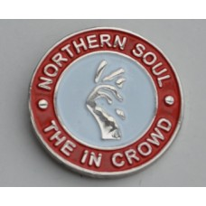 Red Northern Soul The In Crowd Pin Badge