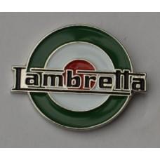 Lambretta Italian Target Pin Badge