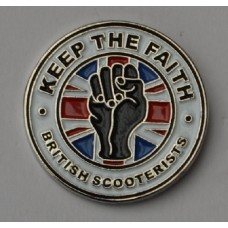 British Scooterists KTF Pin Badge