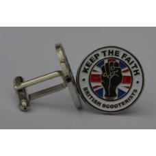 British Scooterists KTF Cufflinks