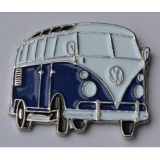 Navy Blue Split-Screen Campervan Enamel Pin Badge