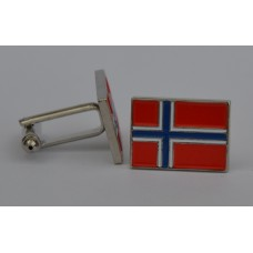 Norway Norwegian Flag Quality Enamel Cufflinks