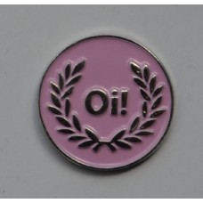 Pink Oi Skinhead Pin Badge