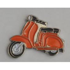 Orange Lambretta Scooter Quality Enamel Pin Badge