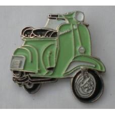 Pale Green Vespa Enamel Pin Badge