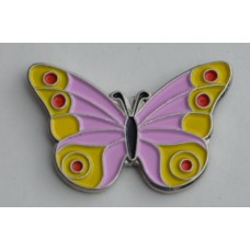 Pink Butterfly Pin Badge