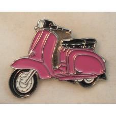 Pink Lambretta Pin Badge