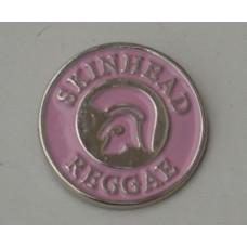 Pink Trojan Skinhead Reggae Pin Badge