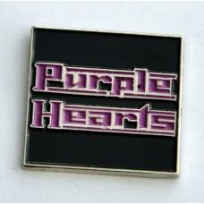 Purple Hearts Quality Enamel Pin Badge