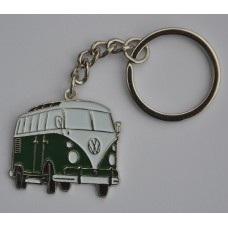 British Racing Green Split-Screen Campervan Keyring