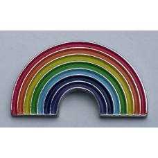 Gay Pride Rainbow Pin Badge