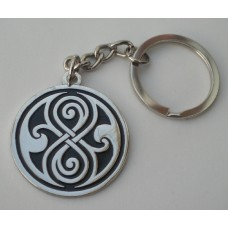 Doctor Who Style Whovian Seal of Rassilon Keyring