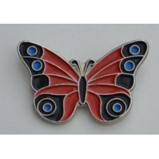 Red Butterfly Pin Badge