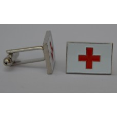 Red Cross Quality Enamel Cufflinks
