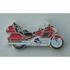 Red Goldwing Touring Motorcycle Pin Badge
