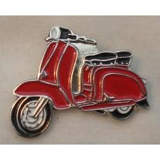 Red Lambretta Pin Badge