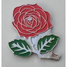 Red Rose Pin Badge