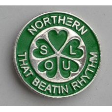 Green Northern Soul That Beatin Rhythm Pin Badge