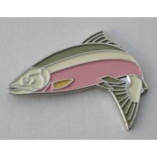 Salmon Pin Badge