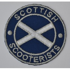 Scottish Scooterists Sew On or Iron On Patch