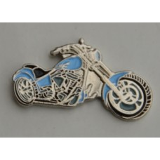 Sky Blue Chopper Motorcycle Pin Badge