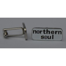 Northern Soul Quality Enamel Cufflinks