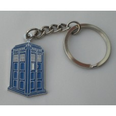 Doctor Who Style Whovian TARDIS Keyring
