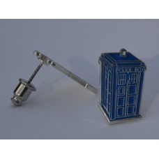 Doctor Who Style Whovian TARDIS Style Policebox Stud Earrings