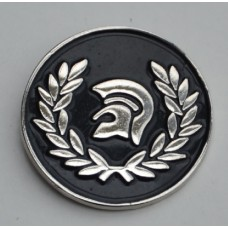 Black Trojan Pin Badge
