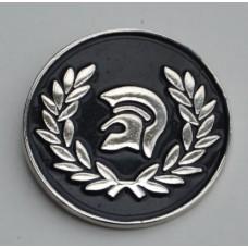 Black Trojan Pin Badge