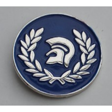 Blue Trojan Pin Badge