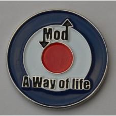 Mod-A Way of Life-Quality Enamel Pin Badge