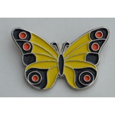 Yellow Butterfly Pin Badge