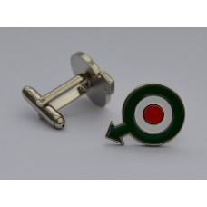 Quadrophenia Italy Roundel With Arrow Enamel Cufflinks