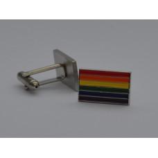 Gay Pride Rainbow Flag Enamel Cufflinks