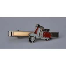Red and White Lambretta Tie-Pin