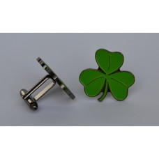 Lucky Irish Shamrock Enamel Cufflinks