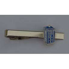 Doctor Who Style Whovian TARDIS Tie-Pin
