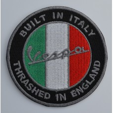 Vespa Thrashed In England Embroidered Patch