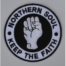 White Northern Soul Keep The Faith Patch